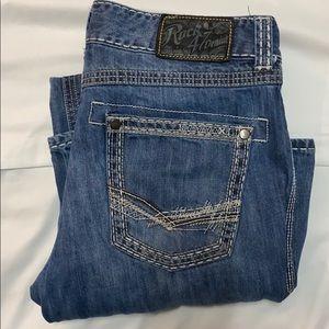 Rock 47 Denim 34x36 Boot Cut Jeans